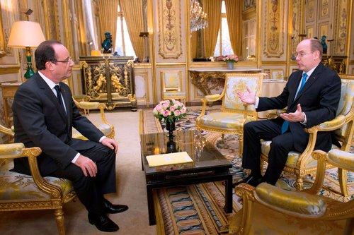 Франсуа Олланд и принц Альберт II