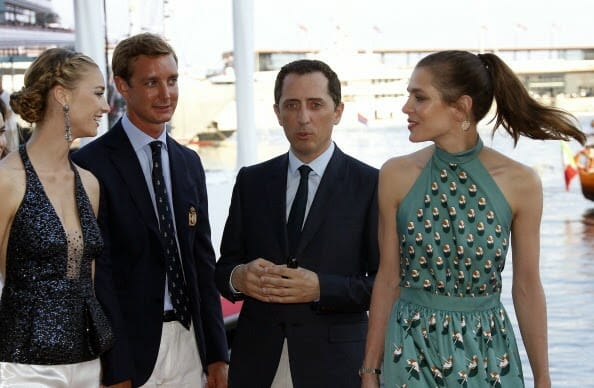Пьер Казираги и Беатрис Борромео, Шарлотта Казираги и Гад Эльмалех на открытии Яхт-Клуба Монако, 20 июня 2014 года