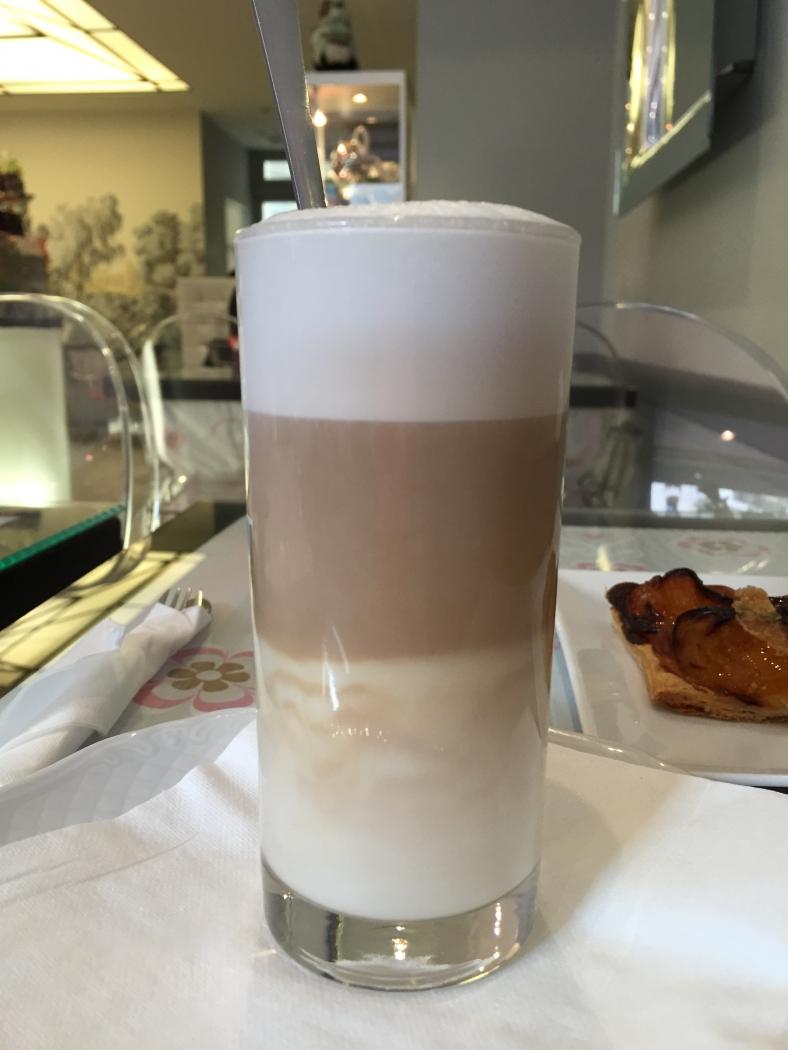 Латте в Prince's Tea монако monaco