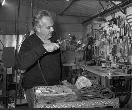 Князь Ренье в своей мастерской Rocagel, 30 сентября 1973