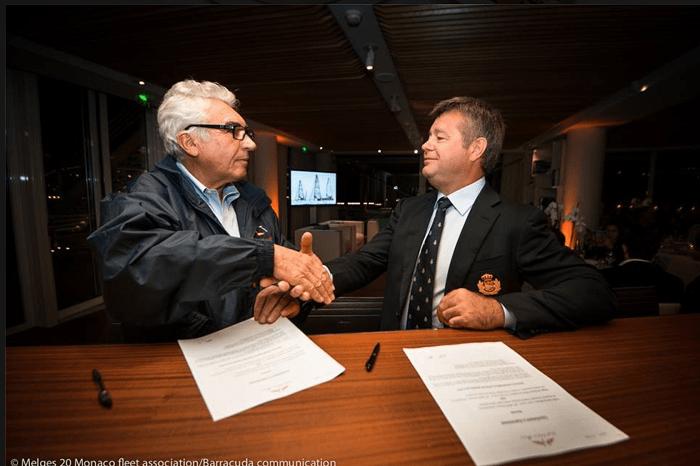 Подписание соглашения между Ассоциацией Monaco Melges20 и яхт-клубом Монако