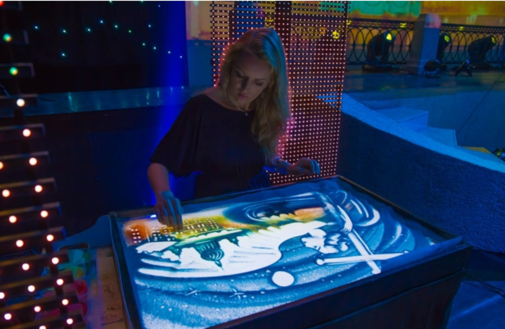 Песочная анимация Марины Сосниной