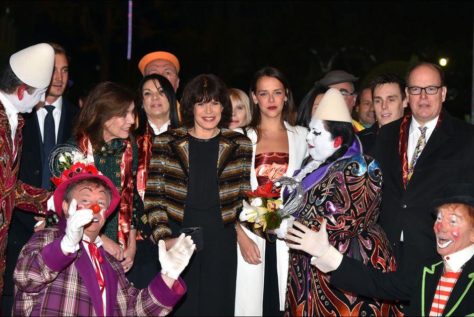 князь Альбер II и принцесса Стефания на фестивале цирка в Монако