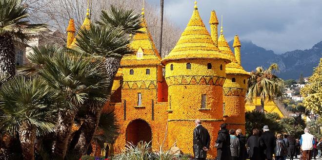 Замок из лимонов