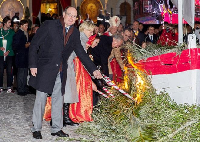 Князь Монако во время празднования Дня Святой Девоты