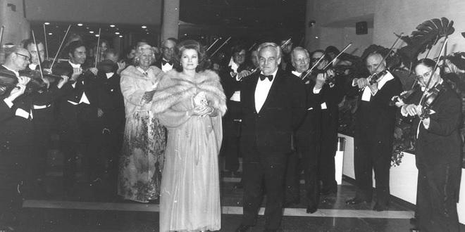 Князь Ренье III и Грейс Келли на Балу Роз в 1976 году