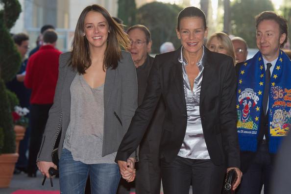 Полин Дюкре с матерью принцессой Стефанией