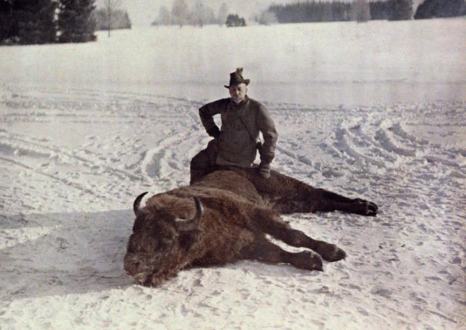 Князь на фоне побежденного козла