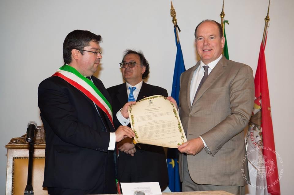 Князь Альбер II и мэр Портофино