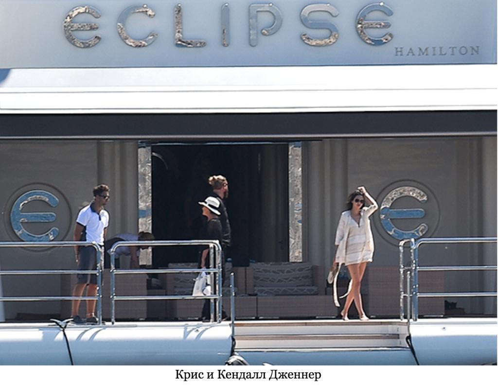 Известные люди на яхте Eclipse