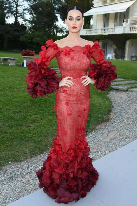 Кэти Перри в платье дома Marchesa