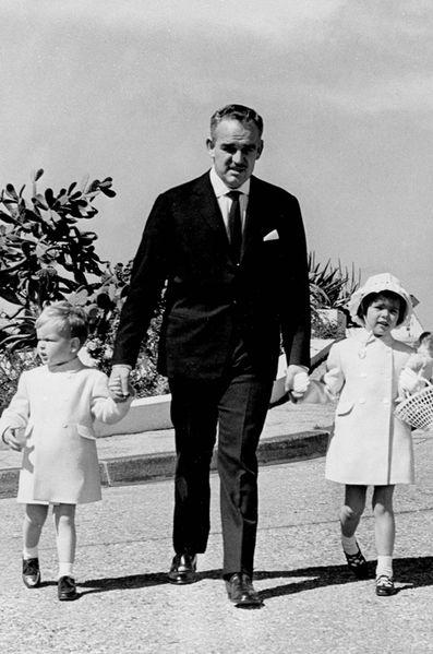 Ренье с детьми 1961 год