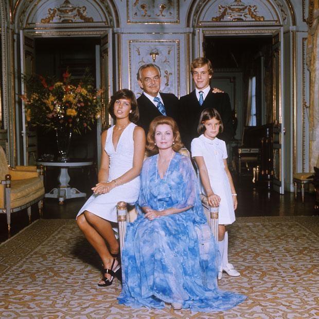 Князь Ренье III, Грейс Келли и их дети