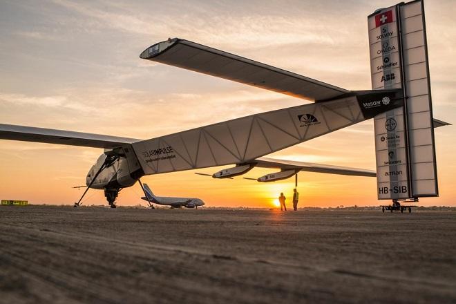 Приземление Solar Impulse 2