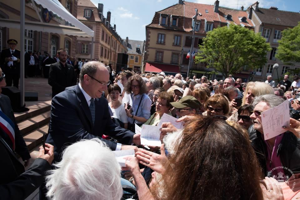 Князь Альбер II посетил Бельфор