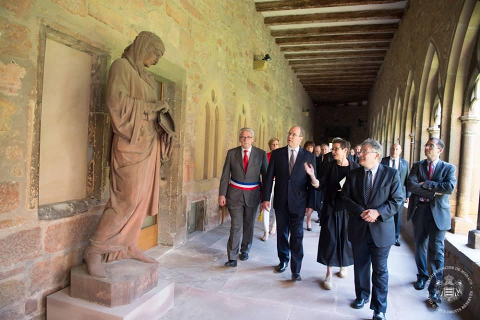 Князь Альбер II посетил Бельфор и Танн