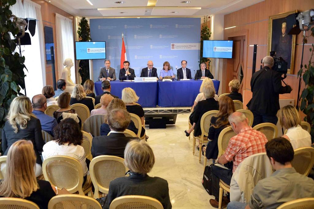 Пресс-конференция Правительства Монако