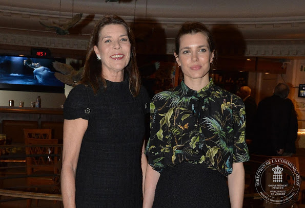 Принцесса Каролина и её дочь Шарлотта Казираги на первом Философском Форуме Монако
