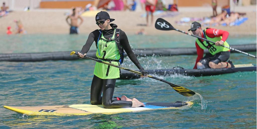 Принцесса Шарлен приняла участие в соревнованиях в Монако