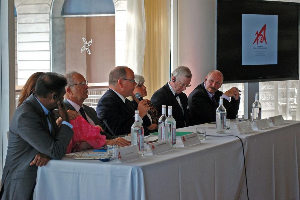 Пресс-конференция по случаю 10-летия Фонда Альбера