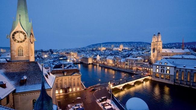 Цюрих как город для миллионеров
