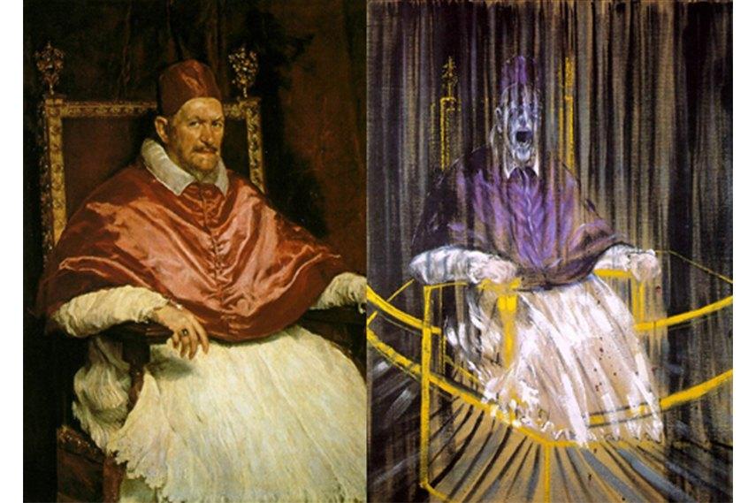 Картина Диего Веласкеса на выставке Фрэнсиса Бэкона