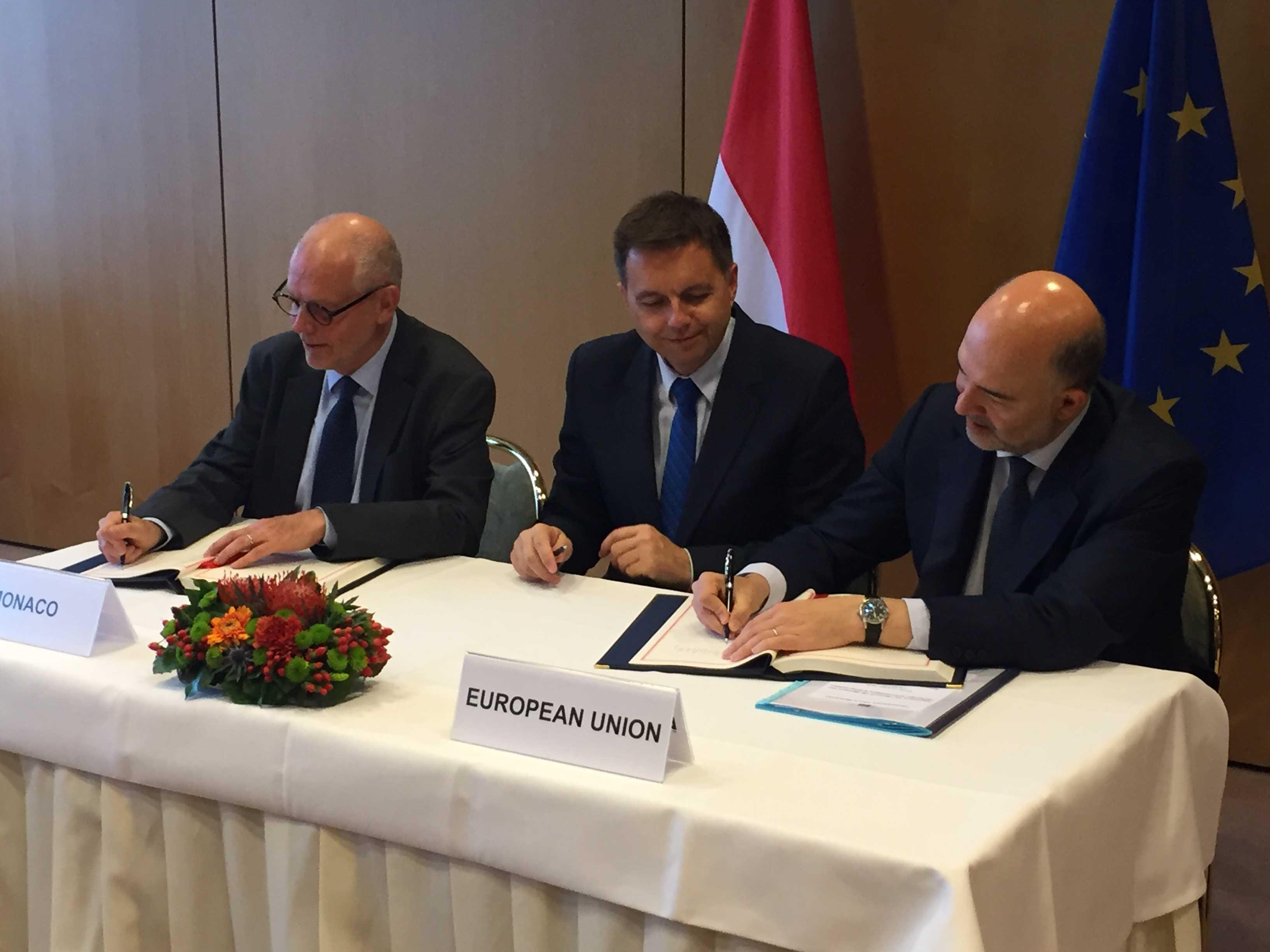 Подписание соглашения об обмене информацией