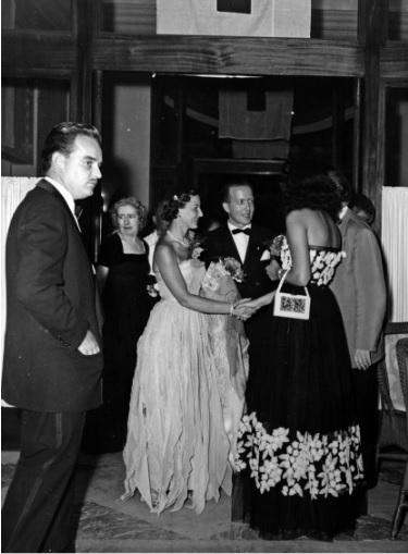 Князь Ренье III на Балу Красного Креста в 1950 году