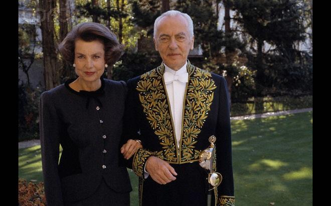 Лилиан Бетанкур с супругом