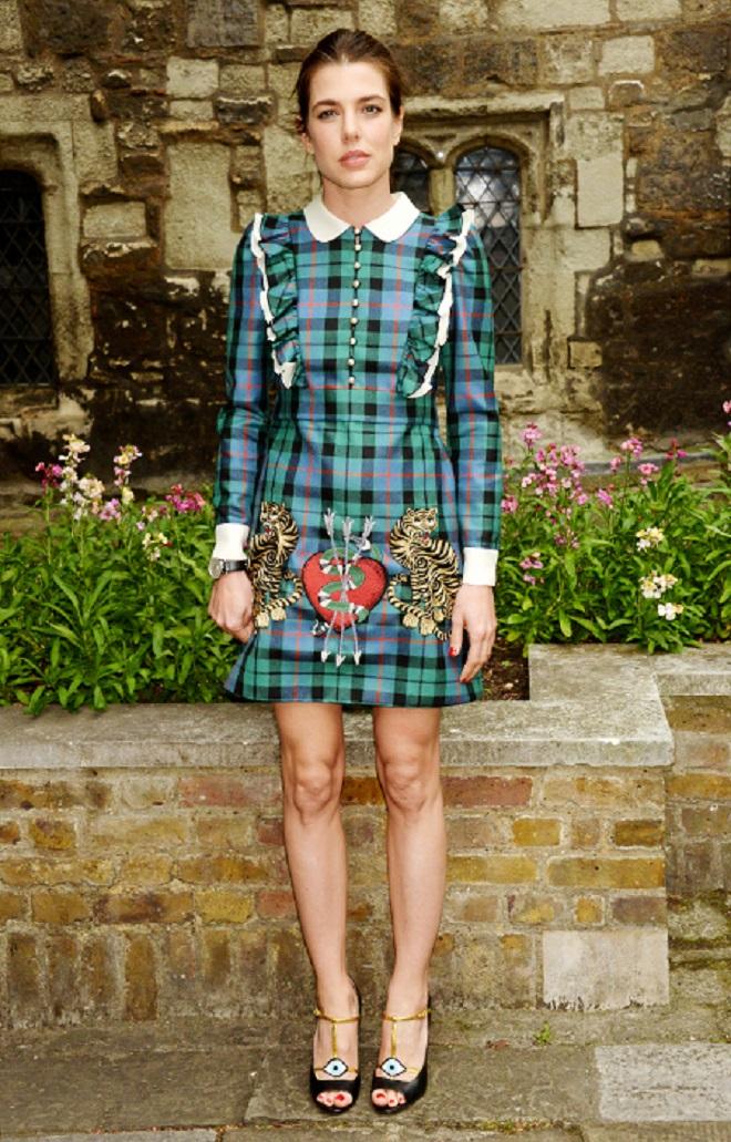 Шарлотта Казираги на показе Gucci в Лондоне, 2016 год