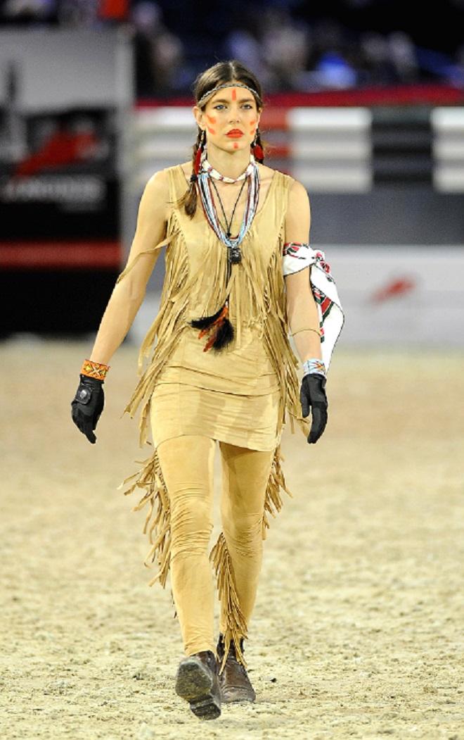 Шарлотта Казираги на соревнованиях Gucci Paris Masters, 2012 год