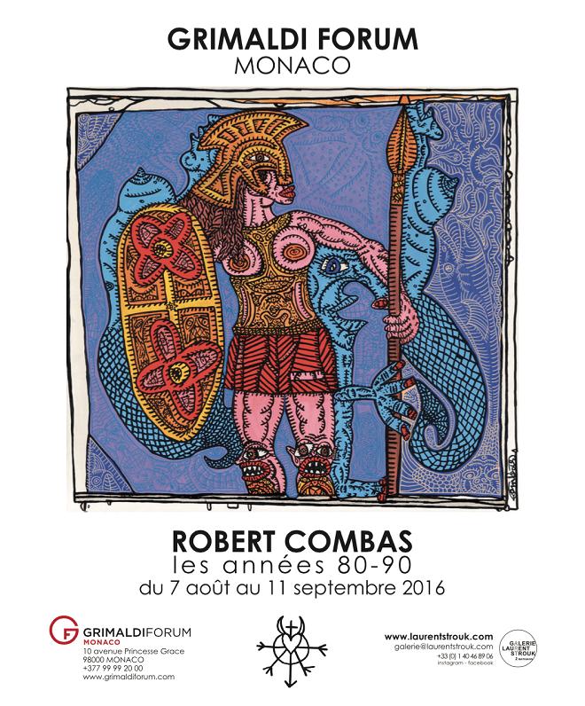 Афиша выставки Робера Комбаса