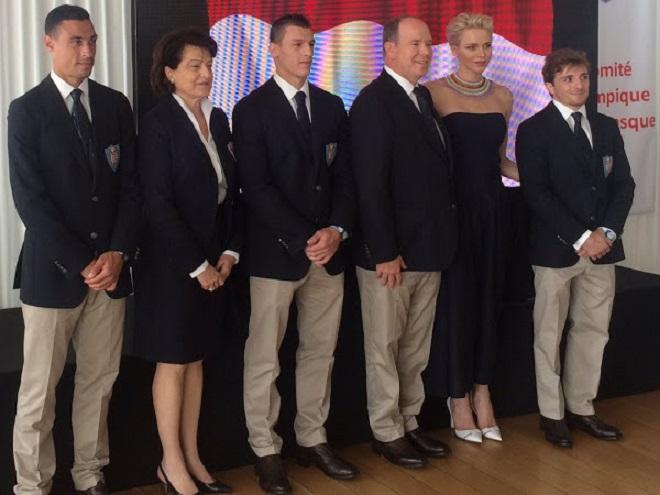 Встреча Альбера и Шарлен с олимпийцами