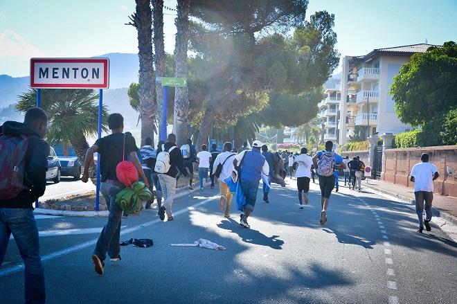 Мигранты в Ментоне