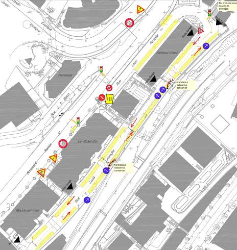 Ограничения на улице Луи Аурелья (rue Louis Aureglia)