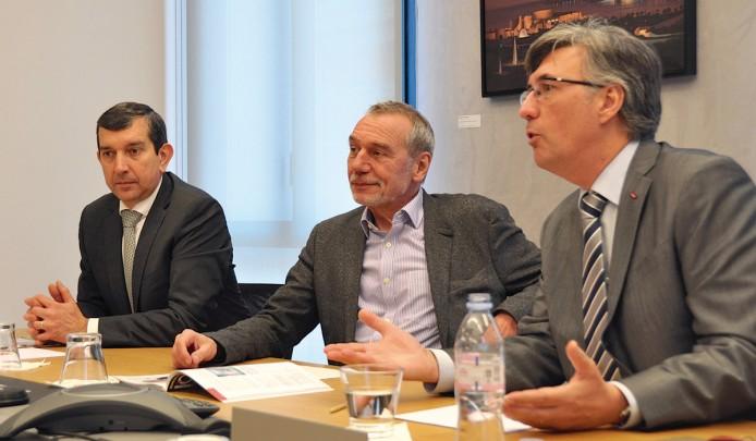 Жан-Луи Гринда, Бернард Паскье и Жан-Франсуа Робийон
