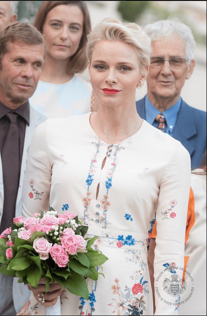 Княгиня Шарлен в платье от Vilshenko