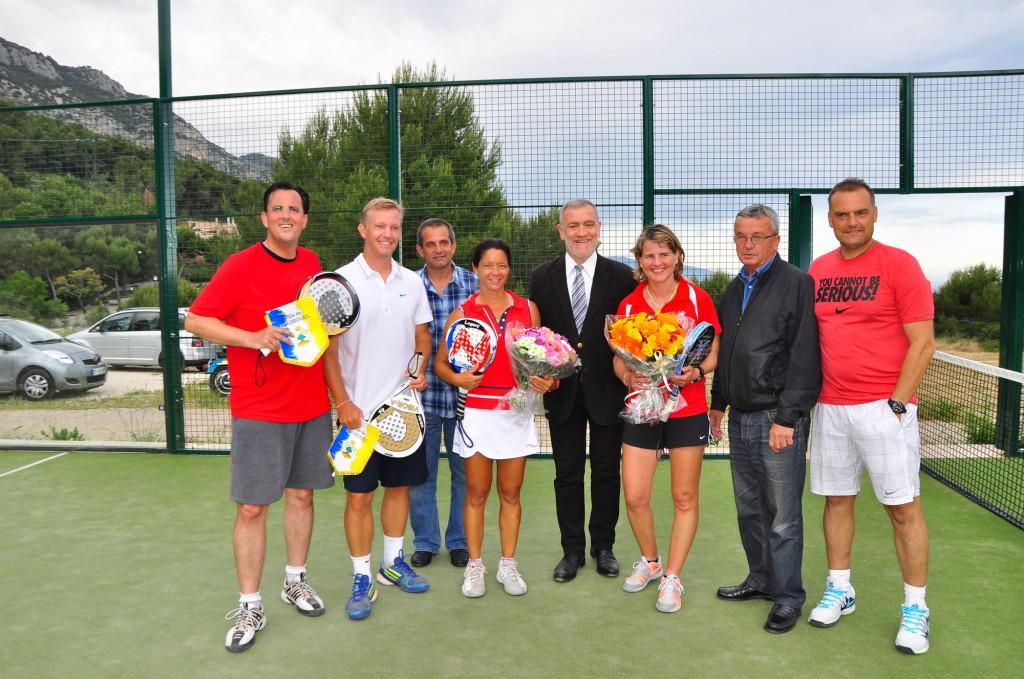 Команда преподавателей падел-тенниса