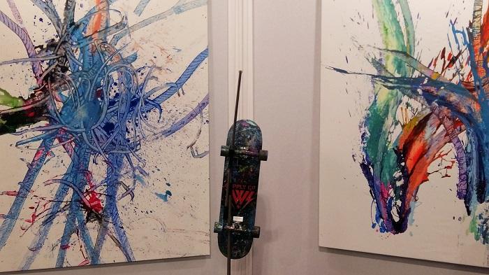 Картины, созданные скейтами