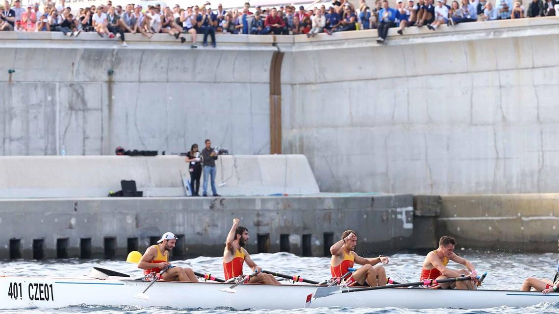 . Первое место в мужской парной четверке заняла команда из Чехии