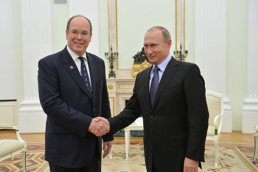 Встреча Князя Альбера II и Президента РФ Владимира Путина