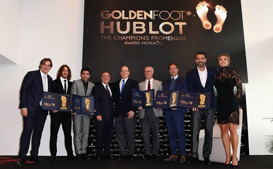 Князь вручил премию Golden foot