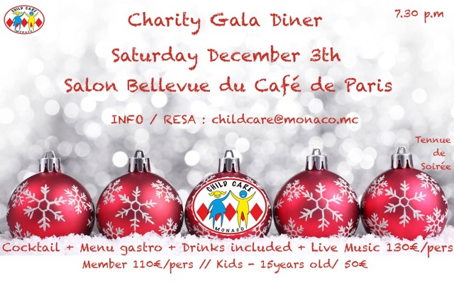 Charity Gala Diner for Child CARE Monaco