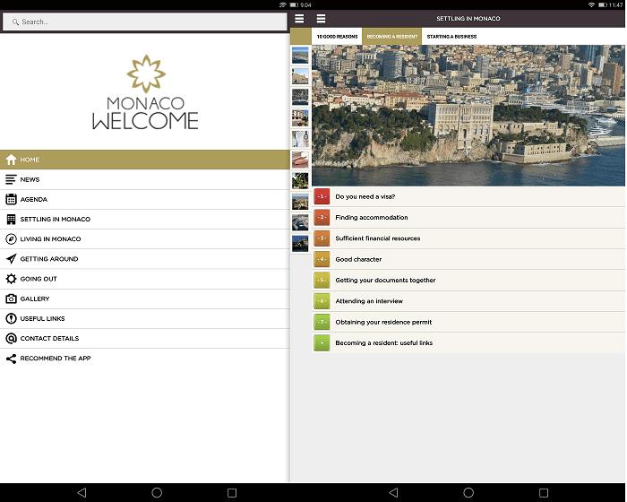 приложение Welcome Monaco