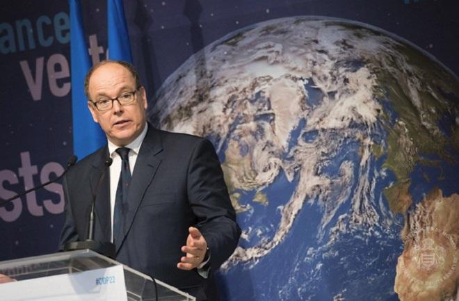 Князь Альбер II на международной Конференции по климату COP 22