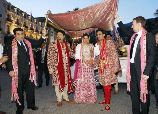 Индийская свадьба в Монако
