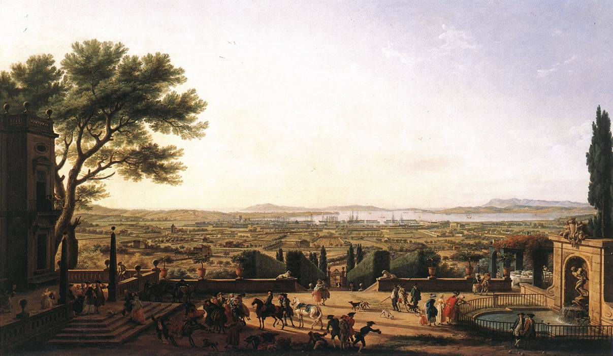 Порт Тулона, 1756 год