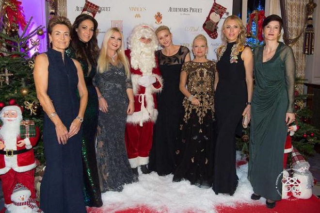 Принцесса Шарлен на традиционном Рождественском балу Монако