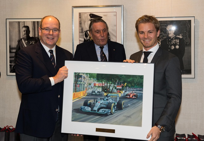 Князь Монако и Нико Росберг с картиной