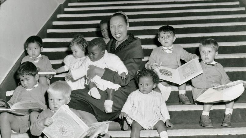 Жозефина Бейкер с детьми